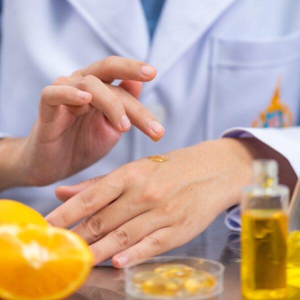 oil capsule, natural organic skincare and cosmetic